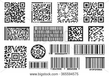 Barcode. Bar Code Label Isolated For Scan Information. Qr Code Stickerfor Scanning On The Supermarke