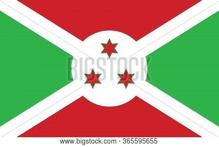 Burundi Flag Vector Graphic. Rectangle Burundian Flag Illustration. Burundi Country Flag Is A Symbol