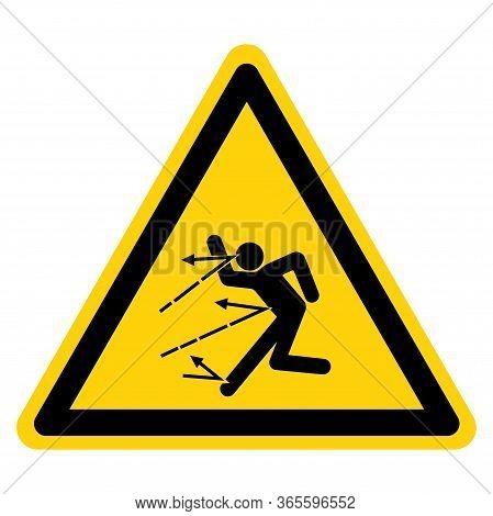 Warning Danger Of Material Spattering Symbol Sign ,vector Illustration, Isolate On White Background