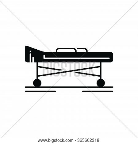 Black Solid Icon For Stretcher Hospital Carrying Medicare Ciline