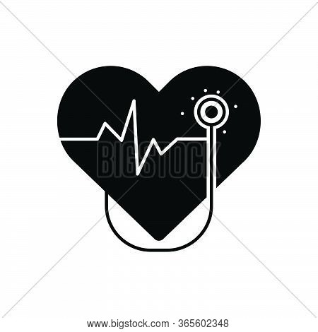 Black Solid Icon For Cardiology  Cardio Heart Oncology Cardiology-surgery