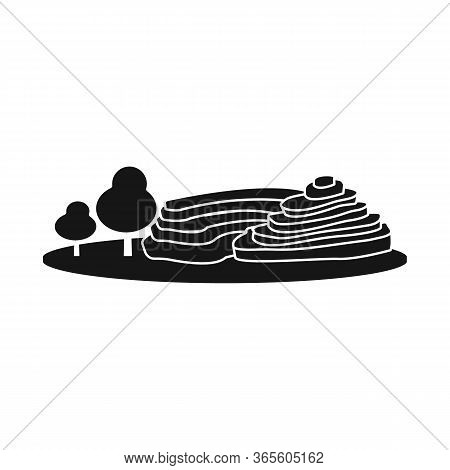 Isolated Object Of Rice And Field Sign. Collection Of Rice And Terrace Vector Icon For Stock.