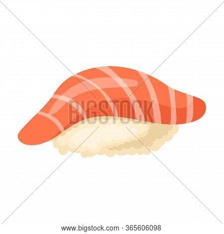 Rice Sushi Vector Icon.cartoon Vector Icon Isolated On White Background Rice Sushi.
