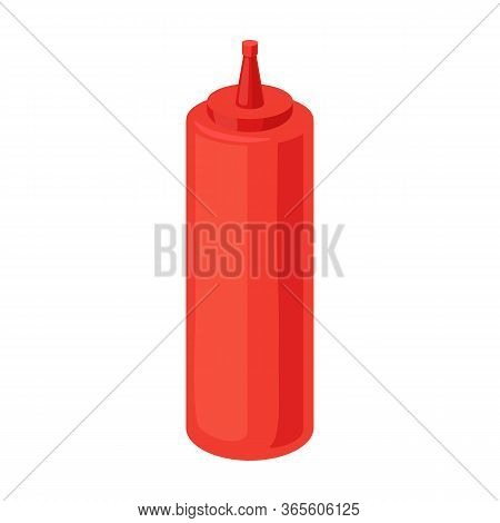 Bottle Ketchup Vector Icon.cartoon Vector Icon Isolated On White Background Bottle Ketchup.