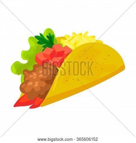 Burrito Vector Icon.cartoon Vector Icon Isolated On White Background Burrito.