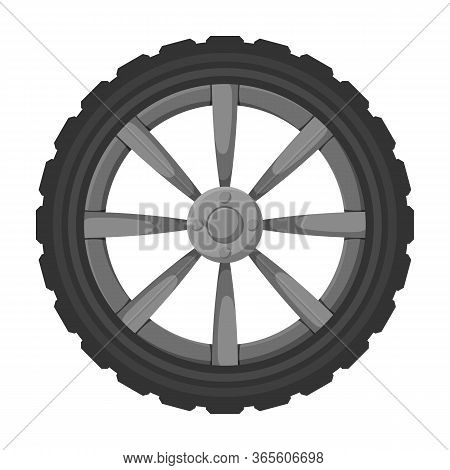 Wheel Car Vector Icon.cartoon Vector Icon Isolated On White Background Wheel Car.