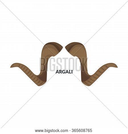 Horn Argali Vector Icon.cartoon Vector Icon Isolated On White Background Horn Argali.