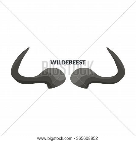 Horn Wildebeest Vector Icon.cartoon Vector Icon Isolated On White Background Horn Wildebeest.