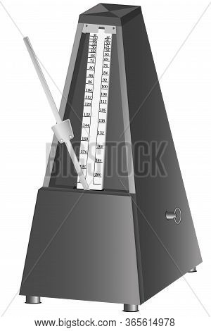 Metronome - A Device That Marks Equal Periods Of Time With Strokes, Is Used In Physics And Music Les