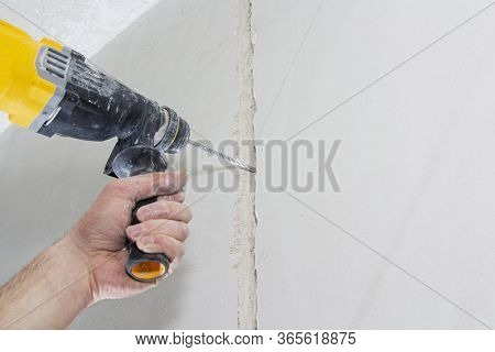 Drill Hole For Electrical Outlet Outlet, Special Power Tool Drill.
