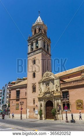 Sevilla, Spain - May 14, 2019: Tower Of The San Pedro Church In Sevilla, Spain