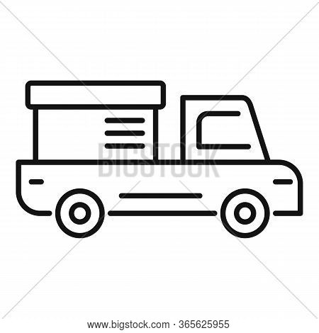 Tow Truck Delivery Icon. Outline Tow Truck Delivery Vector Icon For Web Design Isolated On White Bac