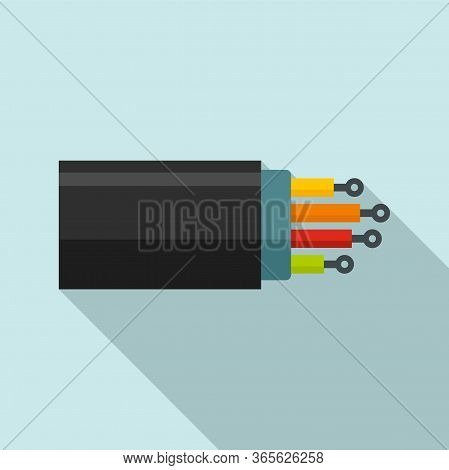 Optical Fiber Port Icon. Flat Illustration Of Optical Fiber Port Vector Icon For Web Design