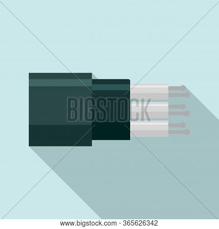 Optic Cable Technology Icon. Flat Illustration Of Optic Cable Technology Vector Icon For Web Design