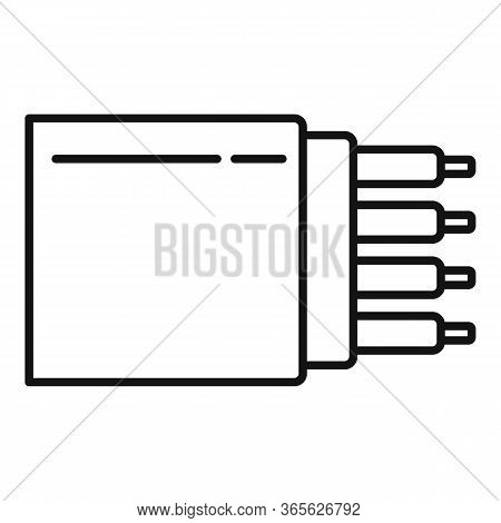Bandwidth Optical Fiber Icon. Outline Bandwidth Optical Fiber Vector Icon For Web Design Isolated On