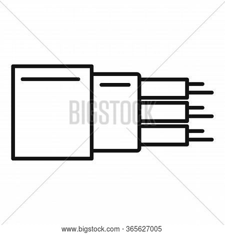 Optic Cable Technology Icon. Outline Optic Cable Technology Vector Icon For Web Design Isolated On W