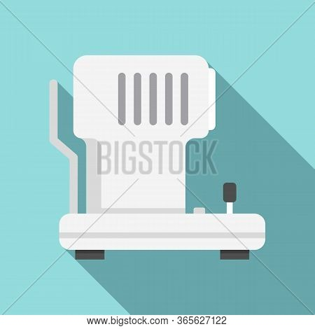 Eye Examination Equipment Icon. Flat Illustration Of Eye Examination Equipment Vector Icon For Web D