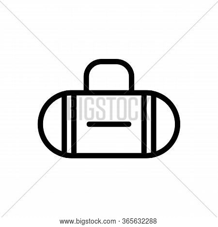 Oval Vertical Stripes Bag Icon Vector. Oval Vertical Stripes Bag Sign. Isolated Contour Symbol Illus