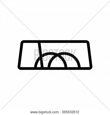 Torn Handles Of Sports Bag Icon Vector. Torn Handles Of Sports Bag Sign. Isolated Contour Symbol Ill