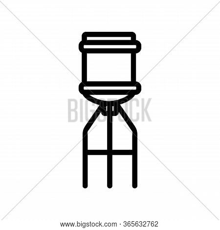 Water Bottle On Top Of Cooler Icon Vector. Water Bottle On Top Of Cooler Sign. Isolated Contour Symb
