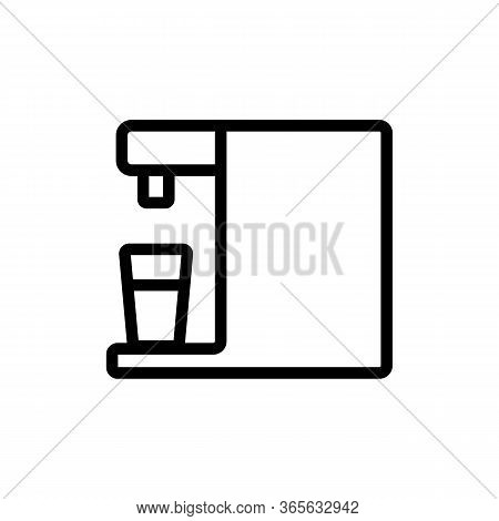 Automatic Water Purifier Icon Vector. Automatic Water Purifier Sign. Isolated Contour Symbol Illustr