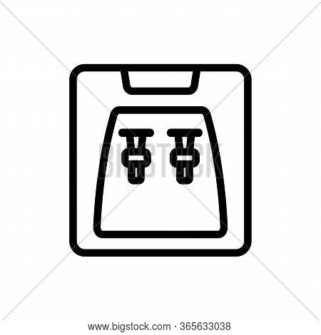 Two Taps In Cooler At Same Time Filled Glasses Icon Vector. Two Taps In Cooler At Same Time Filled G