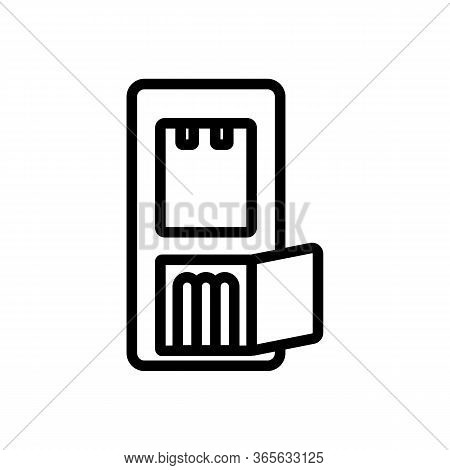 Water Cooler Repair Icon Vector. Water Cooler Repair Sign. Isolated Contour Symbol Illustration