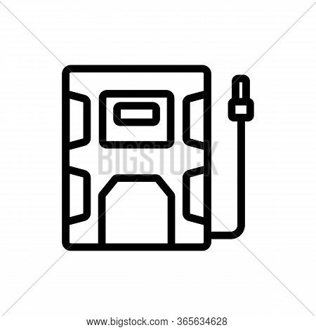 Entrance Door To Industrial Technology Plant Icon Vector. Entrance Door To Industrial Technology Pla