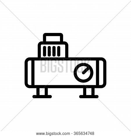 Piston Oil-filled Compressor Icon Vector. Piston Oil-filled Compressor Sign. Isolated Contour Symbol