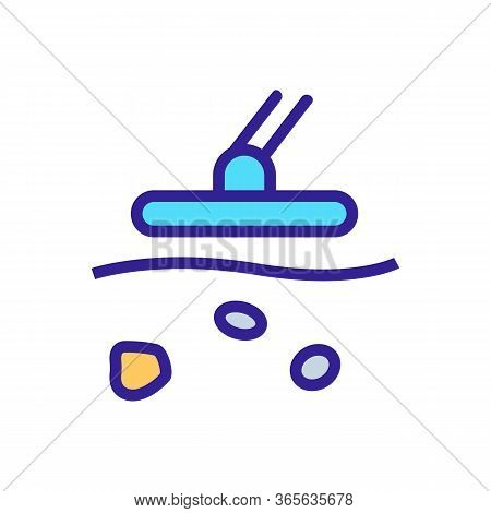 Jewelry Metal Detector Icon Vector. Jewelry Metal Detector Sign. Color Symbol Illustration