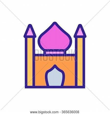 Religious Synagogue Icon Vector. Religious Synagogue Sign. Color Symbol Illustration