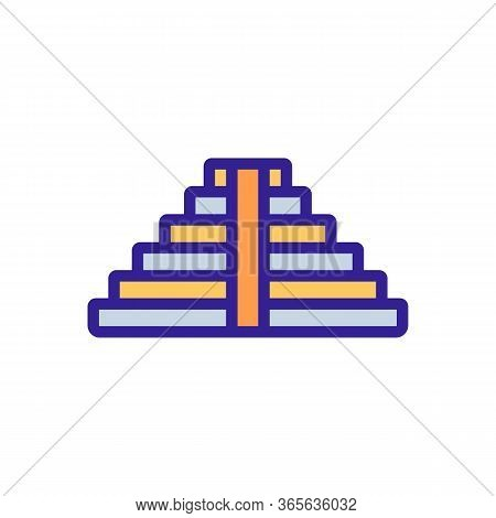 Steps Leading To Temple Icon Vector. Steps Leading To Temple Sign. Color Symbol Illustration