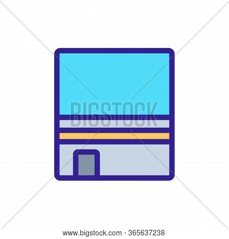 Cubic Stone Kaaba Top View Icon Vector. Cubic Stone Kaaba Top View Sign. Color Symbol Illustration