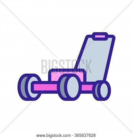 Garden Cultivator Icon Vector. Garden Cultivator Sign. Color Symbol Illustration