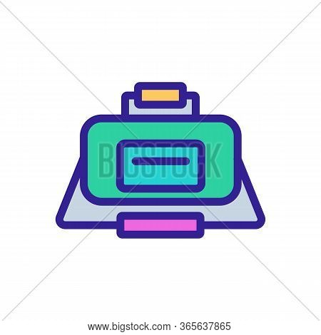 Sports Bag With Two Handles Of Different Lengths Icon Vector. Sports Bag With Two Handles Of Differe