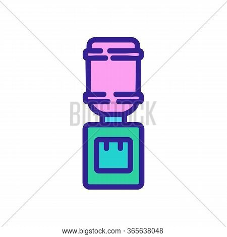 Office Convenient Water Cooler Icon Vector. Office Convenient Water Cooler Sign. Color Symbol Illust
