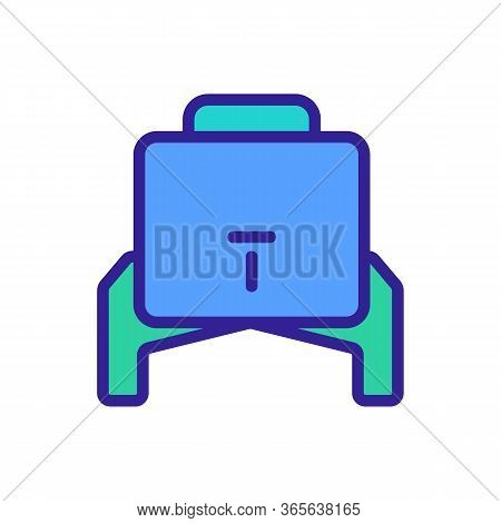 Water Cooler Rear View Icon Vector. Water Cooler Rear View Sign. Color Symbol Illustration