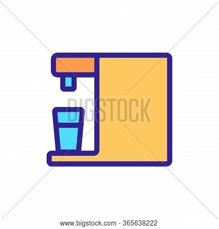 Automatic Water Purifier Icon Vector. Automatic Water Purifier Sign. Color Symbol Illustration