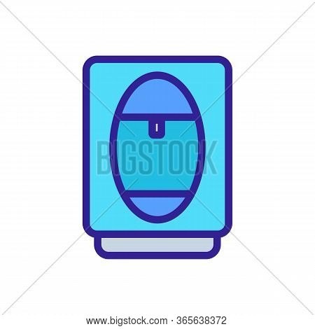 Office Plastic Cooler Icon Vector. Office Plastic Cooler Sign. Color Symbol Illustration