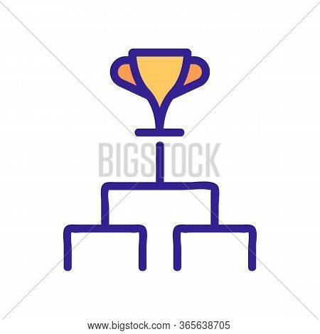 Championship Cup Icon Vector. Championship Cup Sign. Color Symbol Illustration