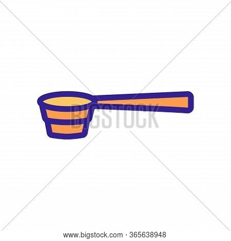 Bartender Special Spoon Icon Vector. Bartender Special Spoon Sign. Color Symbol Illustration