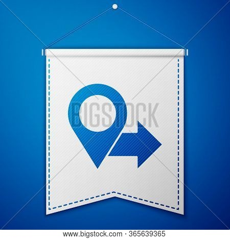 Blue Map Pin Icon Isolated On Blue Background. Navigation, Pointer, Location, Map, Gps, Direction, P