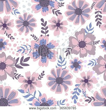 Seamless Pattern Flower Decoration.floral Plant Elegance Print.