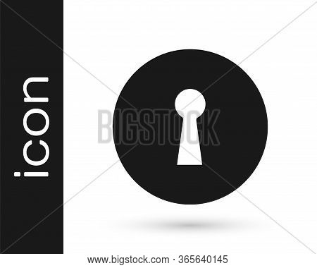 Grey Keyhole Icon Isolated On White Background. Key Of Success Solution. Keyhole Express The Concept