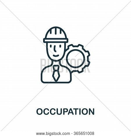 Occupation Icon From Business Training Collection. Simple Line Occupation Icon For Templates, Web De