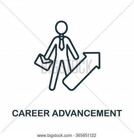 Career Advancement Icon From Business Training Collection. Simple Line Career Advancement Icon For T