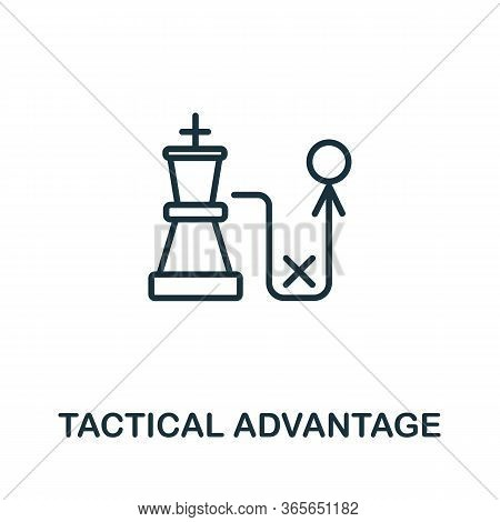 Tactical Advantage Icon From Business Training Collection. Simple Line Tactical Advantage Icon For T