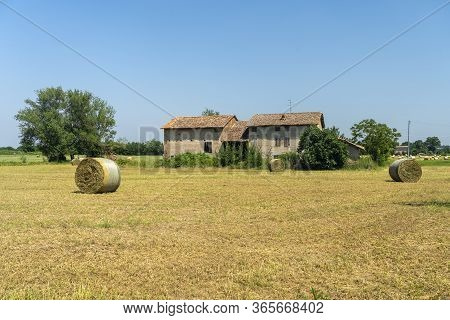 Country Landscape At Summer In The Reggio Emilia Province, Between Quattro Castella And Albinea, Emi