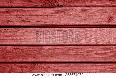 Wooden Planks Background In Red Color. Abstract Background And Texture For Design.