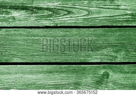 Old Grungy Wooden Planks Background In Green Tone. Abstract Background And Texture For Design.